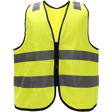 Mehrere Farben Unisex Hochsichtbare Warnweste Hohe Sichtbarkeit Warnweste Reflektierende Weste Reißverschluss Sicherheitswesten En Iso 20471 M Gelb Baumarkt