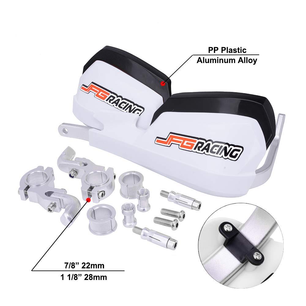 "7//8/"" 1 1//8/"" Universal Hand Guards Handguards /& Fitting Kit For Dirt Bike Enduro"