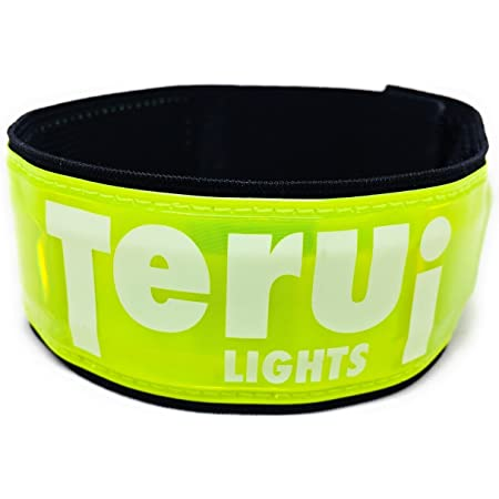 TERUI Lights Osaka LED アームバンド ランニング ライト, 蛍光 セーフティ 反射バンド, 腕や脚に簡単に取付可能, 夜間 自転車 裾バンド, ウォーキング サイクリング 安全確保, 超蛍光 超反射 視認性抜群 事故防止, 軽量