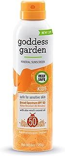 Goddess Garden - Kids SPF 30 Mineral Sunscreen Continuous Spray Lotion - Sensitive Skin, Reef Safe, Sheer Zinc and Titaniu...