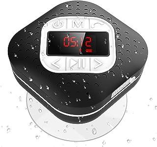 comprar comparacion Altavoz Bluetooth Ducha Impermeable con Ventosa Extraíble, AGPTEK Radio Ducha Portátil con Pantalla Funciones de Radio FM,...