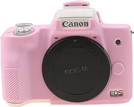 TUYUNG Camera Body Housing Case, Silicone Camera Case Protective Cover for Canon EOS M50 Digital Camera - Pink