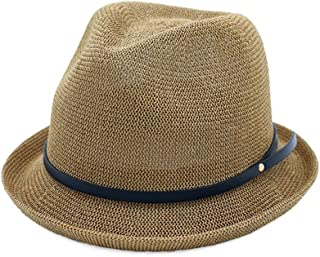 LiWen Zheng Women's Straw Hat Spring Sun Hat Summer British Wind Jazz Hat Sunscreen Straw Hat Simple Curling Small Hat