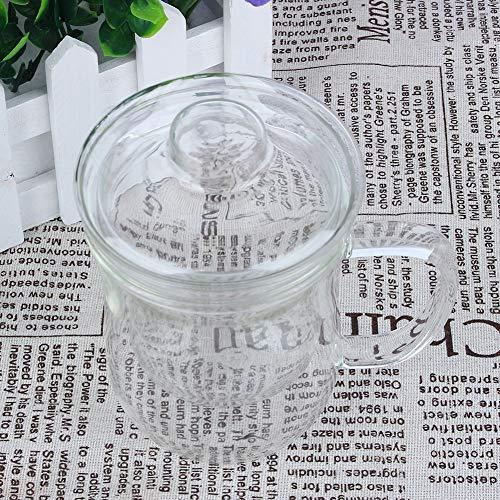 Oumefar Taza de cristal de la taza de agua exquisita para el té perfumado para el dormitorio