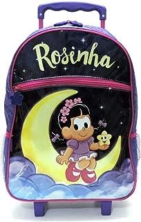 Mochila Infantil Rosinha Na Lua Rodinhas G Roxo Pacific