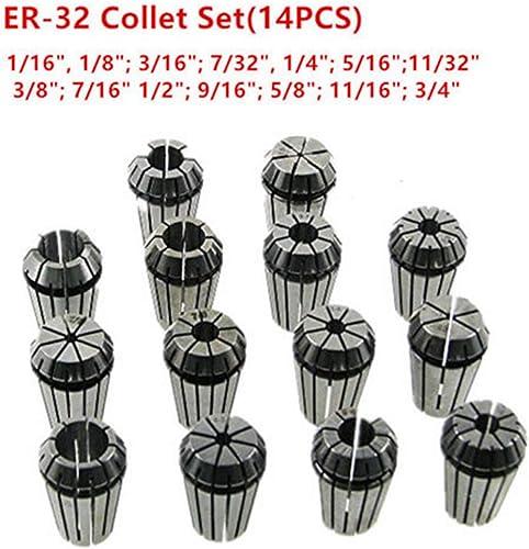 """high quality New ER32 Super popular Precision 14 PCS popular 1/16""""-3/4"""" ER-32 Collets Set With 3/8 7/16 1/2 online sale"""