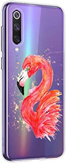 Oihxse Cristal Clear Coque pour Xiaomi Redmi Note 8 Pro Silicone TPU Souple Protection Etui [Jolie Aquarelle Animal Desig...