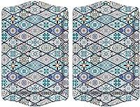 bohoria® vassoio di design di alta qualità, piatti decorativi per vetro, tazze, ciotole sul tavolo in legno, vetro o pietra (set orient da 2 pezzi)