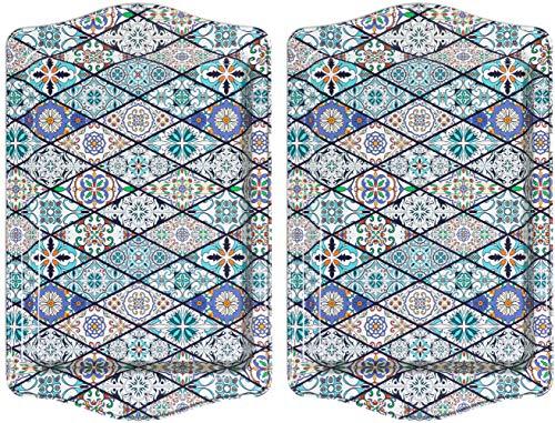 BOHORIA® Premium Design Serviertablett - Dekorative Servierplatten für Glas, Tassen, Schälchen auf ihrem Holz-, Glas- oder Stein-Esstisch (Orient 2er Set)
