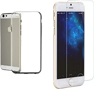 Cduro iPhone 6 Flexible Slim Fit Crystal Clear TPU Case & Touch Accurate, Scratch Resistant Tempered Glass Screen Protecto...