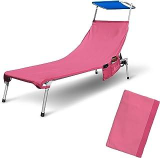 Samtlan Lacci Elastici sostitutivi a 4 Pezzi per Sedia Zero Gravity 2 Me 1,35 m Sedia da Spiaggia reclinabili