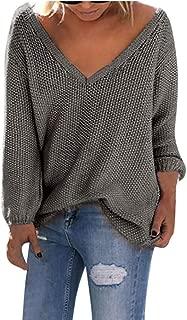 Sweater for Womens, FORUU Plus Size Womens Long Sleeve Fashion T-Shirt Tops Loose Knitting Blouse