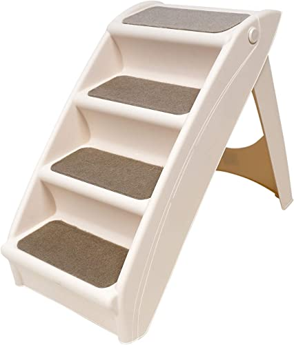 """popular 24"""" sale Folding Pet Carpeted Steps, Foldable Steps for Dogs new arrival and Cats, Best for Medium to Large Pets sale"""