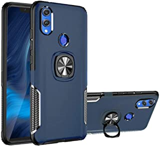 Honor 8X Case, [with 360 ° Kickstand] Rotating Ring Case [Dual Shockproof] Protection Cover Compatible with [Magnetic Car Mount] for Huawei Honor 8X (Blue, Honor 8X)