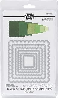 Sizzix Framelits Die Set 6/PK - Squares, Scallop