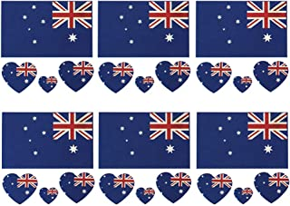 Daqin Australia Flag Tattoo Stickers Waterproof Tattoo Stickers Sweat-proof Facial Stickers Stickers Party Decorations 6 Sets (Color : Australian flag)