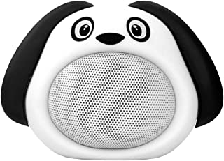 Promate Bluetooth Speaker, Portable Wireless Kids Bluetooth V4.1 Speaker with HD Sound Quality, Hands-free call function and Cute Dog Design for Bluetooth Enabled Devices, Snoopy White