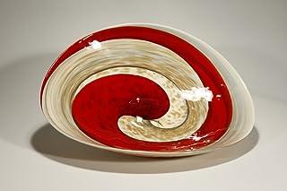Vinciprova Le Gemme di Venezia Murano Collection yalos Rouge Plato pliega Gran Ø X mm. 520 X X mm. 440 Cristal de Murano Made in Italy