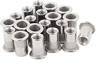 20pcs 5/16''-18 Rivet Nuts Stainless Steel Threaded Insert Nutsert Rivnuts 5/16-18UNC Flate Head