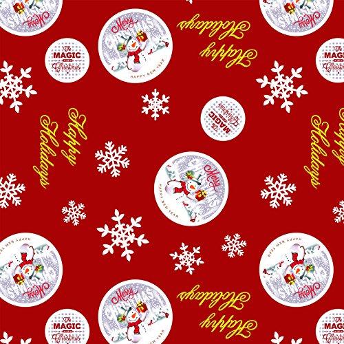 Mantel de hule, Navidad, rectangular 140 x 200cm Rojo