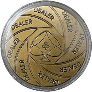 Poker Stuff India Brass Dealer Coin for Adults and Children, Coin Collecting Lovers (Multicolor)