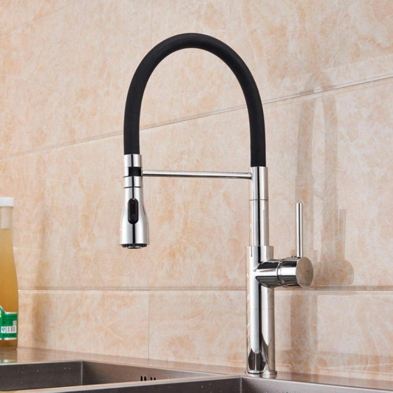 Gorheh Chrom Küchenarmatur Einhebel Pull Down Küchenmischer Kran Gummirohr Warm- Und Kaltwasserhahn Für Die Küche