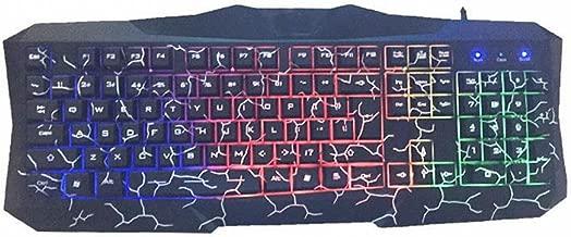S keyboard el Tacto del Robot Estalla un Teclado Retroiluminado de Tres Colores con Iluminación,C: Amazon.es: Hogar
