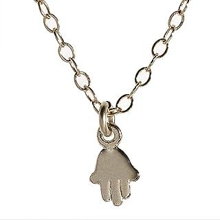 Collana girocollo in argento sterling 925 con girocollo malocchio - Collana Hamsa con ciondolo a mano di Fatima - Gioielli...