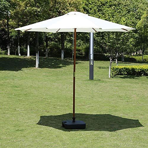 Generic002 Paraguas de Madera de Ocio al Aire Libre Parasol de jardín de Paraguas, Paraguas de Playa Plegable de Protector Solar, Utilizado para balcón/Exterior/terraza (2.7m / 8,9 pies) sin Base
