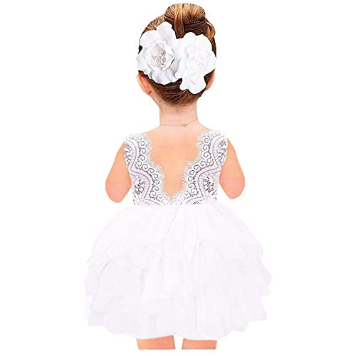76ad3b2c343 2Bunnies Girl Beaded Peony Lace Back A-Line Tiered Tutu Tulle Flower Girl  Dress