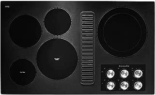 KitchenAid KCED606GBL 36 Black 5 Burner Electric Downdraft Cooktop