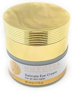 NOVOTEA Natural Eye Cream for Dark Circles Puffiness Wrinkles & Bags - Vitamin C Under Eye Cream - Dead Sea Minerals Moisturizer - Hydrating Facial Cream - Delicate Anti-aging Face Cream, 1.7 FL Oz