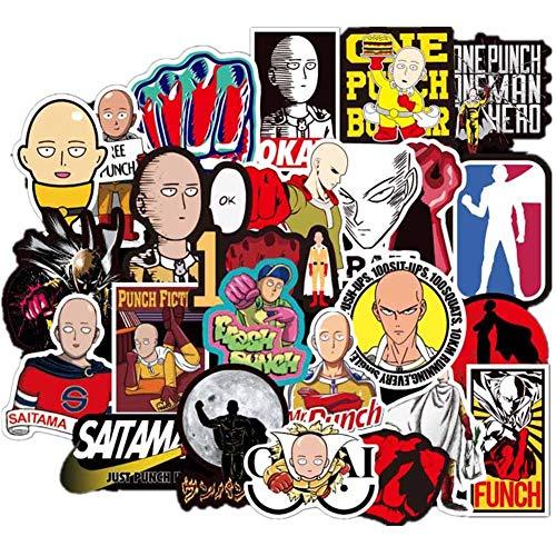 Haushele OFD Aufkleber 70 Stck Wasserdicht Vinyl Stickers Anime Style Decals fr Auto Motorrder Gepck Skateboard Laptop Aufkleber ONE Punch Man
