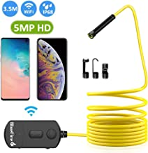 BlueFire 5MP HD WiFi Borescope 1944P Semi-Rigid Wireless Endoscope IP68 Waterproof..