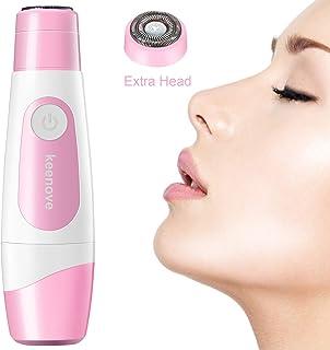 Keenove بدون درد موهای زائد برای زنان با 1 سر جایگزین اضافی مو صاف کننده برقی موی برقی صورت براق برای لب های خانمها گونه های قابل حمل چانه