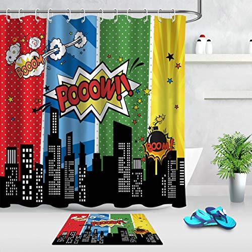 cortinas de baño superheroes