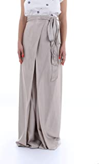 MANILA GRACE Women's P703VU999 Silver Cotton Pants