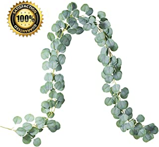 LASPERAL Eucalyptus Garland 6.5ft Artificial Vines Eucalyptus Leaves Hanging Greenery Garland for Wedding Backdrop, Wall Decor, Home Decor, Table Centerpieces, Party Decorations