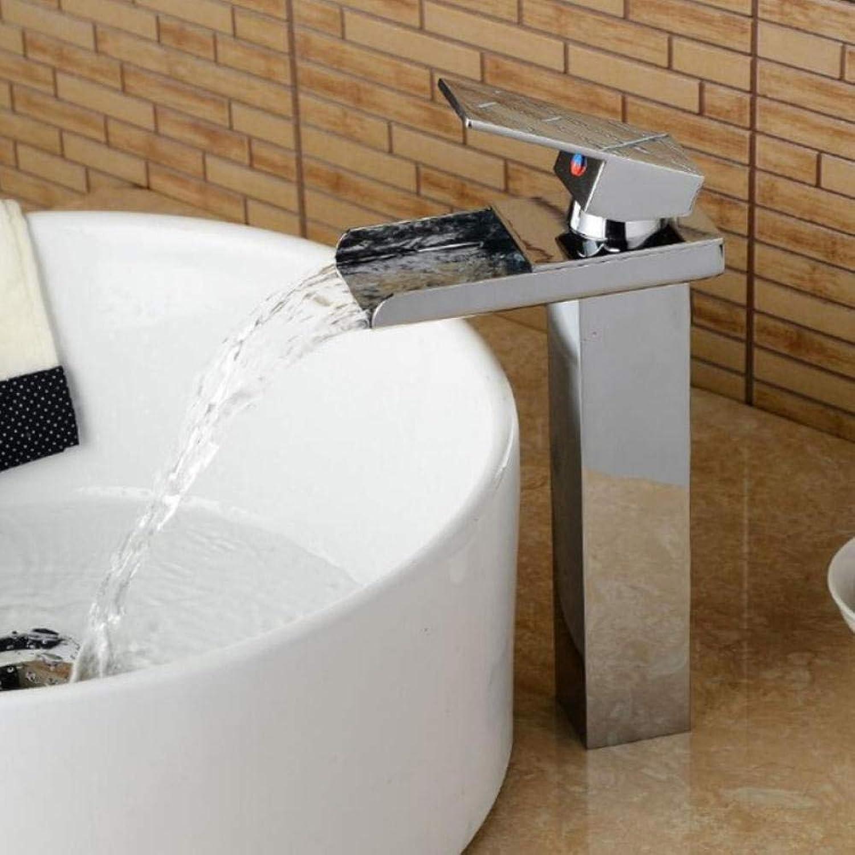 Lddpl Wasserhahn Becken Wasserhahn Chrom Deck Temperaturgeregelte Waschbecken Wasserhahn Wasserfall Kran Mischbatterie Wasserhahn