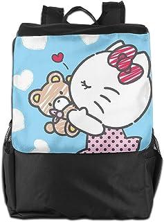 Mochila de viaje de Hello Kitty y Bear Love, ligera, de poliéster, bolsa de viaje para hombres y mujeres