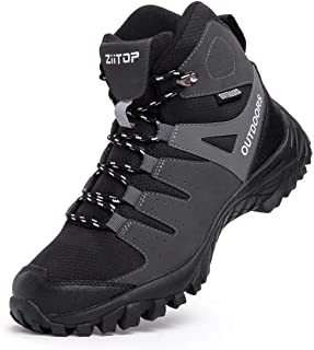 Men's Hiking Boots Breathable Lightweight Trekking Backpacking Mountaineering Boots, High-Traction Grip, Outdoors Hiker Boot for Men