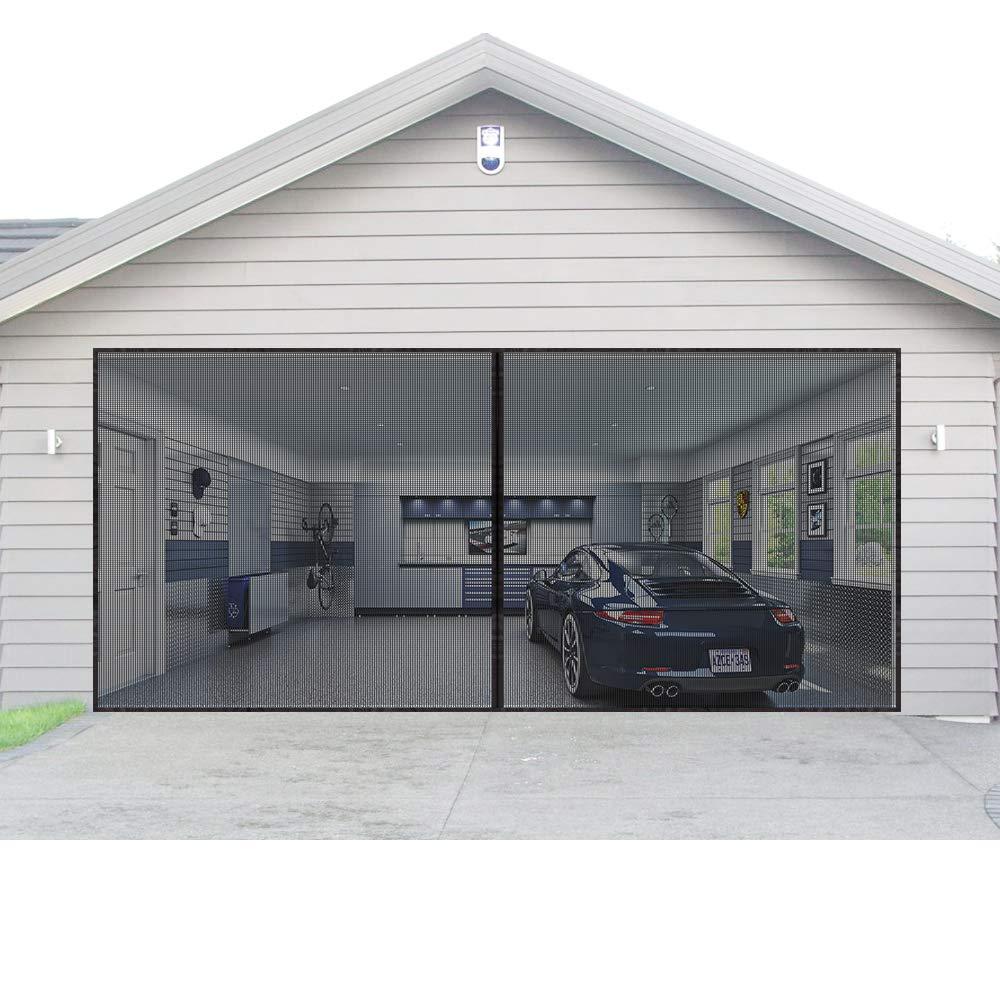 Juego de cortinas magnéticas para puerta de garaje de 16 x 7 pies ...