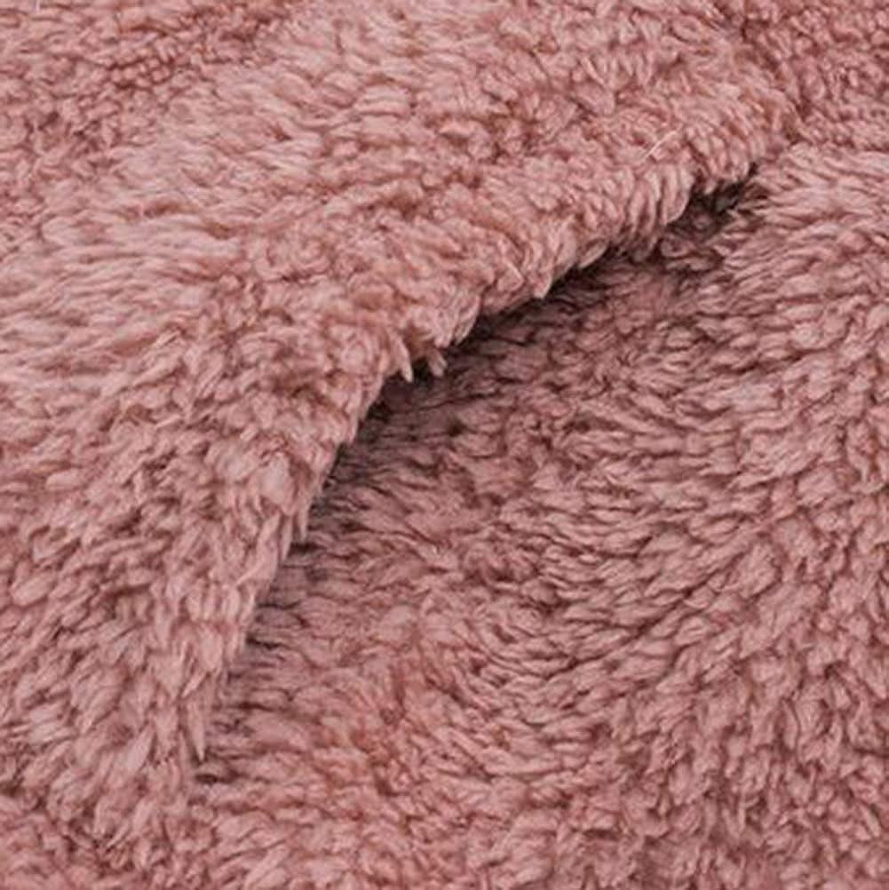 Tomwell Damen Mantel Plüschjacke Winter Winterjacke Steppjacke Warmen Outwear Lange Ärmel Einfarbig Parka Mode Coat Rosa