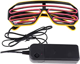 FITYLE LED Light Up Glasses Party Eye Mask EL Wire Glasses for Kids Adults Halloween - D