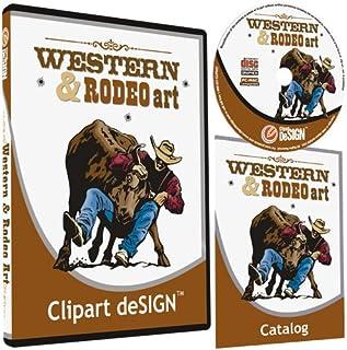 Cowboy-Rodeo-Western-Horse Clipart-Vinyl Cutter Plotter Clip Art Sign Making Images-Design Vector Art Graphics CD-ROM
