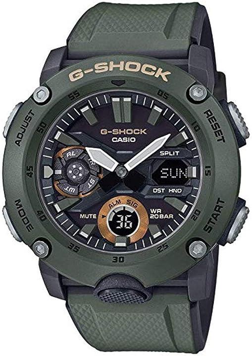 Orologio g-shock casio analogico al quarzo unisex per adulti GA-2000-3AER