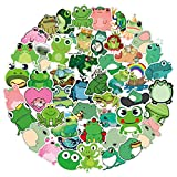 50Pcs Cute Frog Waterproof Vinyl Stickers Decals for Laptop Water Bottles Bike Skateboard Luggage Computer Hydro Flask Toy Phone Snowboard. DIY Decoration as Gifts for Kids Girls Teens