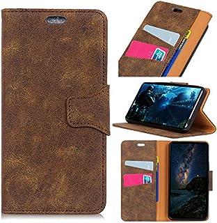 Xiaomi Pocophone F1 財布 シェル, Mrstar [ スタイル ] プレミアム Xiaomi Pocophone F1 カード シェルs 立つ フィーチャー の Xiaomi Pocophone F1 [Brown ]グリップ フリップ カバー ?と グリップ