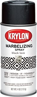 Krylon I00601 Marbelizing Spray Decorative Finishes, Black Lava, 4 Ounce Krylon I00601 Marbelizing Spray Decorative Finishes, Black Lava, 4 Ounce