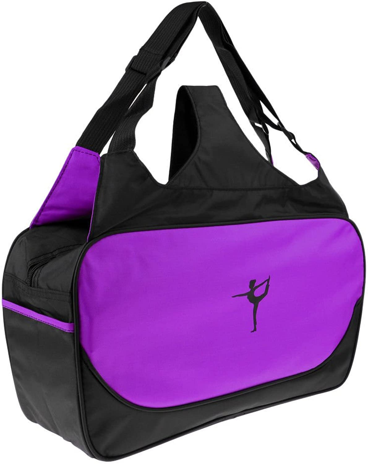 Adjustable Yoga Pilates Mat Bag Multi Purpose Pack Sling Carrier with Strap Purple
